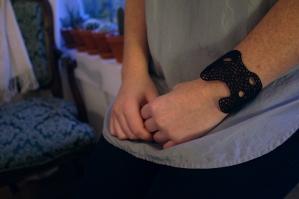 Hard Coral bracelet in black