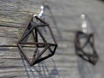 geometric earrings in black
